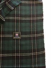 JOSHUA ELLIS Green Tartan Check Lambswool & Cashmere Jacket Fabric. (250g)