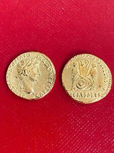Rare Augustus Gold Aureus Coin struck C. 2 BC - 4 AD  Caius & Lucius