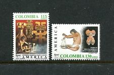 Colombia C809-C810, MNH, Pre-Colombian People1989. x27616