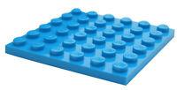Flach 1x2 Blau Azur Dunkel- Neu New Dark Azurblau 6 X lego 3023 Schild
