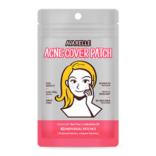 Avarelle Acne Absorbing Cover Patch Hydrocolloid, Tea Tree, Calendula Oil, Cica