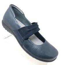 Naot Koa Mary Jane Blue Leather Comfort Walking Shoe Womens Size 38 / 7 - 7.5