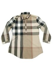Burberry Brit Women's Cotton Check Tunic Top  (Classic)      RRP £325