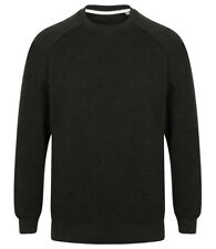 New Mens Front Row FR834 French Terry Sweatshirt. Black Marl XL.