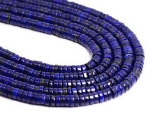 "1007 6x3mm Blue Lapis lazuli Heishi gemstone loose beads 15"""