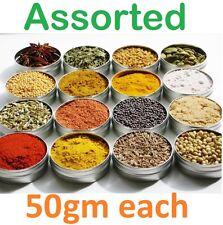 Assorted Spices Refill   50 gm each Cinnamon Cloves Cardamon Turmeric Cumin