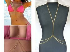 Fashion Crossover Body Jewelry Necklace Bikini Belly Chain