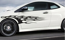 """Universal Flame's Car Pinstripe Racing Side Graphics Decals (140flm) 59""""x11.5"""""""