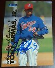 Tony Armas Jr. Signed 1999 Fleer Tradition Update Rookie Baseball Card RC Auto'd