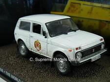 LADA NIVA MODEL CAR 1/43RD SCALE WHITE COLOUR J. BOND VERSION PACKED R0154X{:}