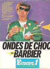 PUBLICITE 1981 EUROPE 1 Ondes de Choc: 23 h Barbier