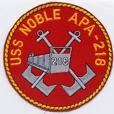 USS Noble APA 218 - Cross Anchor & Ship - 5 inch FE BC Patch Cat. No. B841