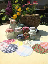 20 Jam Jar Covers Mixed selection with free Elastic Bands