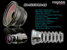 RAYNOX HD-5050 PRO-LE 0.5x WIDE ANGLE LENS 27mm 30mm 30.5mm 34mm 37mm 43 mm