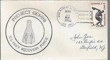 1965 Gemini 3, Naval Recovery Shipboard Cover  Vessel USS Robert L Wilson