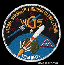 ORIGINAL - WGS 6 - WIDEBAND GLOBAL SATCOM  - DELTA IV - SATELLITE SPACE  PATCH