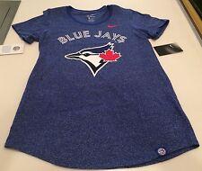 Toronto Blue Jays MLB Baseball Ladies Women's Marled Boyfriend T Shirt Top Large
