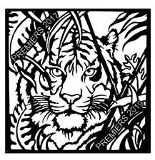 Tiger Premiers 2017 2019 Corten (rusty look) metal Sign