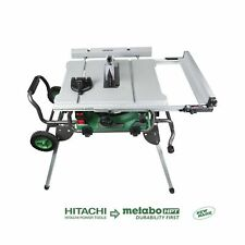 """Hitachi C10RJ 10"""" 15-Amp Jobsite Table Saw with 35"""" Rip Capacity and Fold and..."""