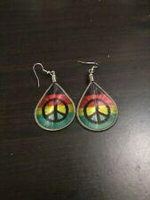Sign Earrings Rasta Peace