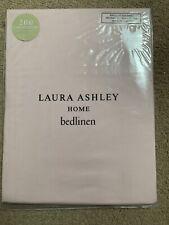 BNWT Laura Ashley Single Fitted Bedsheet - 200 Thread - Pink (Blush)