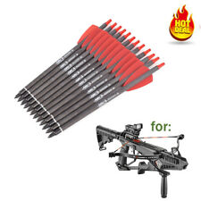 """12pcs 7.5""""inch Crossbow Bolts Carbon Arrows 2"""" Vanes Sports Crossbow Hunting NEW"""