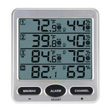 Ambient Weather WS-10 Wireless Indoor Outdoor Thermo-Hygrometer 3Remote Sensors