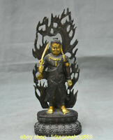 """10.8 """"bouddhisme antique du Japon Bronze doré  Statue de Bouddha"""