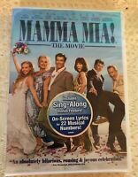 Mamma Mia (DVD, 2008, Full Frame) With Sing-Along Bonus Feature Brand New Sealed