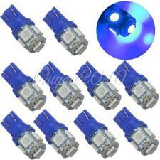 New listing 10X Car T10 Ultra Blue Led 5050 5smd Wedge Light Bulb 194 168 2825 158 192 Us