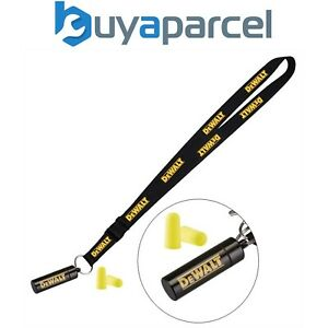 Dewalt Neck Strap Tool Lanyard Safety Card Id Badge Holder + Ear Plugs and Case
