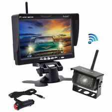 Kabellose Rückfahrkamera Monitor Funk Drahtlos Set Bus LKW RV + Auto Ladegerät