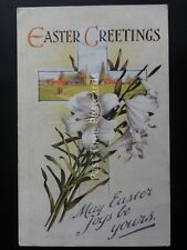 Easter Greetings MAY EASTER JOYS BE YOURS c1943 Postcard by J. Salmon 1060