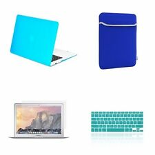 "4 IN 1 Macbook Air 13"" Aqua Blue Matte Hard Case + Keyboard Cover + LCD + Bag"