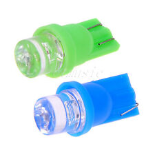 2PCS*Ultra Green and Blue T10 LED Bulb For Car Gauge Cluster Lights