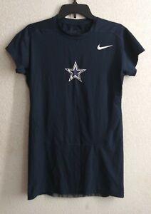 Nike Pro Combat Men's Dri-Fit Dallas Cowboys Cap Sleeve Compression Shirt Sz L