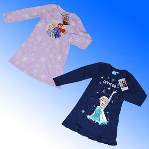 Girls Cotton Frozen Nightdress Nightshirt Nightie Nighty Pyjama Age 3-8 Years