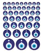 42x Nazat boncuk 3d Sticker Adhesivo Evil Eye ojos azul coche decorativas móvil nz7