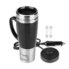 Car Electric Stainless Steel Heating Cup Coffee Tea Drinking Cup Mug Black 12V