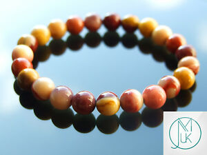 Mookaite Natural Gemstone Bracelet 6-9'' Elasticated Healing Stone Chakra Reiki