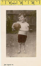 """""""Just signed on"""" published by Aristophot Co, London, vintage rugby postcard"""