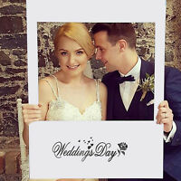 48x68cm Wedding Day Photo Booth Props Bride Groom Photography Frame Party Decor
