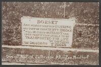 Postcard Bridport Dorset a Quaint Notice on Bridge at Allington early RP