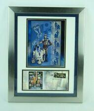 Star Wars R2-D2 C-3PO Licensed Photo & USPS Stamped Envelope Custom Framed