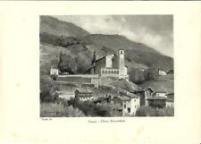 Stampa antica TRAONA Chiesa Valtellina Sondrio 1934 Old antique print