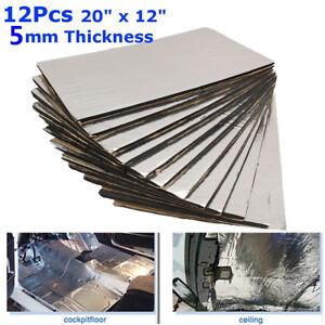 12 Sheets Car Heat Shield Noise Insulation Deadening Closed Cell Foam Sheet 5mm