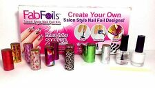 13 PCS FAB FOILS- SALON STYLE NAIL FOIL KIT - HOLOGRAPHIC NAIL ART TRANSFER FOIL