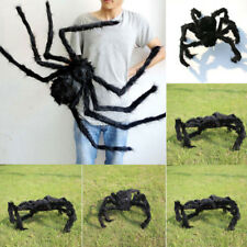 Noir Araignée Peluche Jouet Spider Déco Fête Halloween Party Maison Hantée Props
