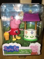 New PEPPA PIG Figurine PLAYSET 'Makes A Wish' With Wishing Well