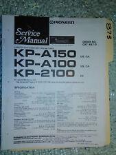 Pioneer kp-a150 a100 2100 service manual original repair book stereo car radio